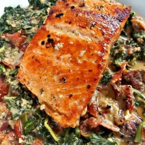 Spicy Tuscan Salmon