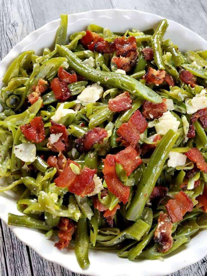 Green Beans with Bacon and Parmesan Cheese