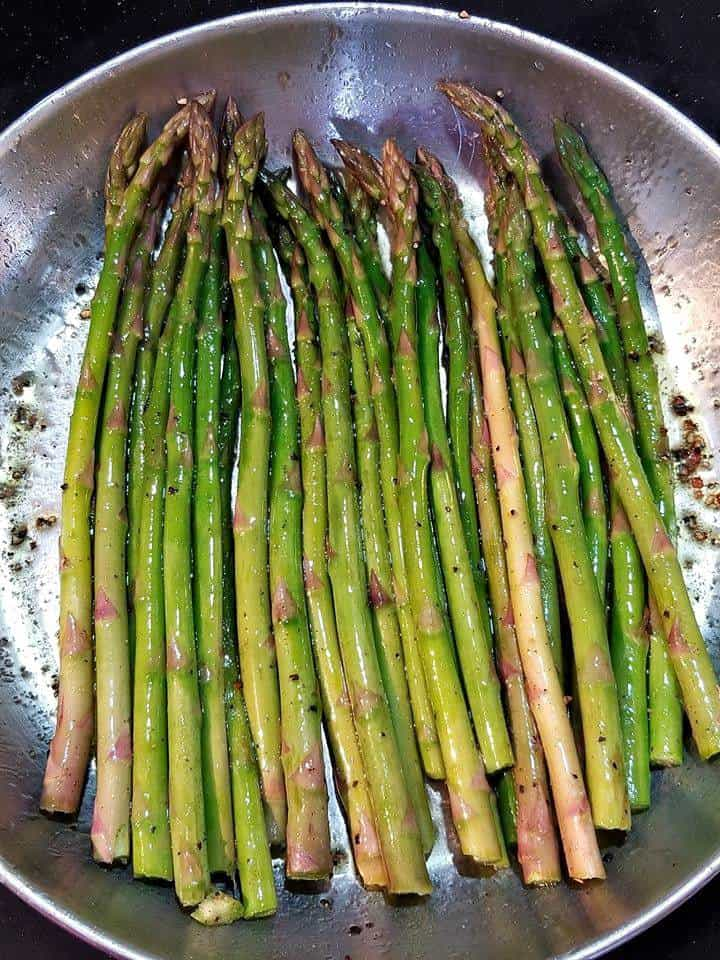 Sauteed Asparagus with olive oil