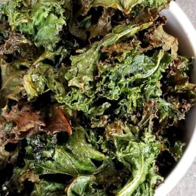 Spicy Air Fryer Kale Chips