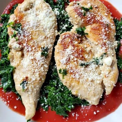 Chicken Parmesan with Spinach